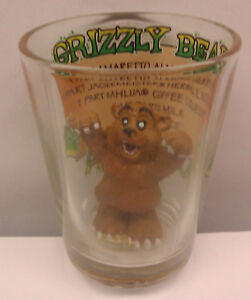 Alaska-Collector-Shotglass-with-drink-Recipe-Grizzly-Bear-Unique-shot-glass