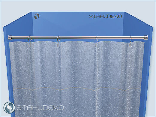 Duschvorhangstange Ø 10mm  bis 120cm Edelstahl-V2A