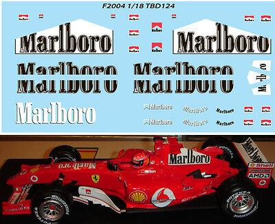 1//18 Ferrari F1 F2001 F 2001 Michael Schumacher Sponsor Decals TB Decal TBD114
