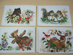 Wildlife Christmas Cards.Details About 4 Vintage Nature Wildlife Christmas Cards Sunshine Mint