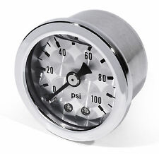 Öldruckmanometer Öldruckanzeige silber -100 PSI 6 Bar Motorrad Auto Performance