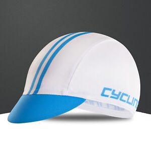 White New Cycling Bike Breathable Sweat Proof Polyester Hat Cap One-Size CD2407