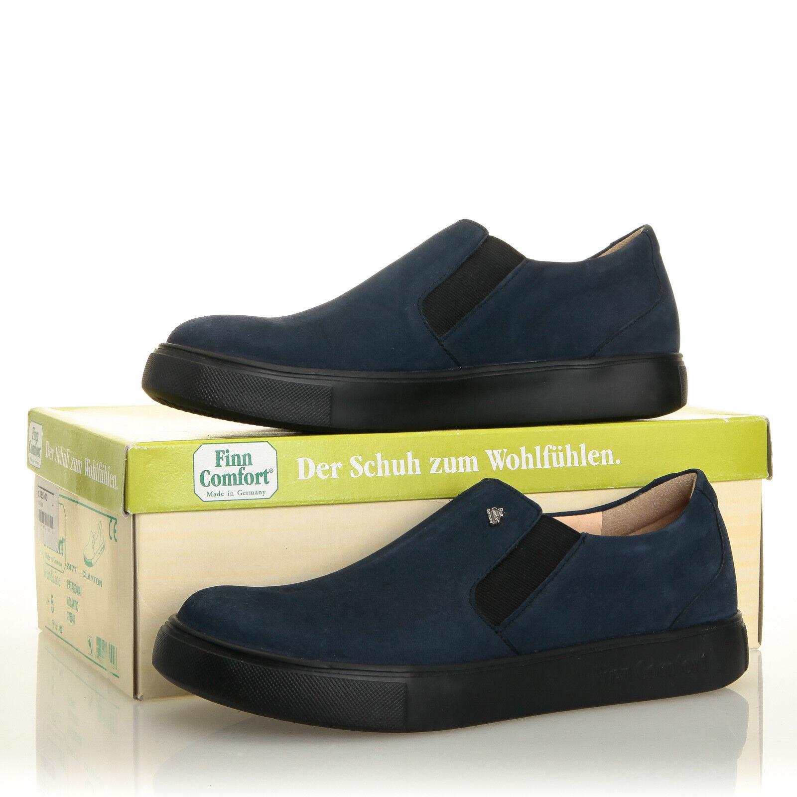 Finn Comfort Clayton Atlantic Blue Nubuck Leather Slip-On Scarpe da Ginnastica - Size 5.5 US