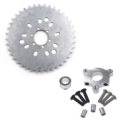 """CNC Adapter Silver 1.5/"""" 25 // 38mm 80cc Motorized Bicycle 32T-44T Sprocket 1/"""""""