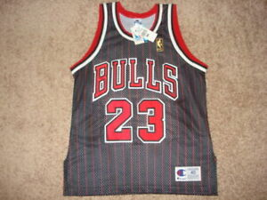 newest 5824c 572fc Details about New Authentic Chicago Bulls Pin Stripe 50th Anniversary  Michael Jordan Jersey 40