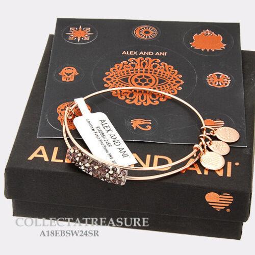 Authentic Alex and Ani Fine Rocks Christmas Punch Shiny Rose Expandable Bangle