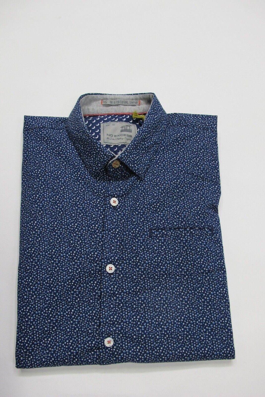 No Excess Hemd halbarm Gr. M, L, XL, 2XL, Farbe Navy mit Print UVP