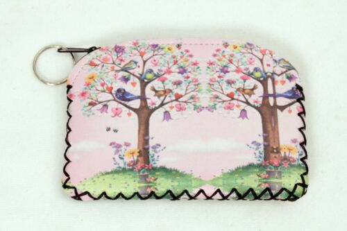 Oil Cloth Coin Purse Vegan Credit Card Holder and Key Ring 8 Designs