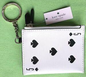 KATE-SPADE-KEY-FOBS-CARD-COIN-PURSE-NWT-5-OF-SPADES-CARD-MOTIF