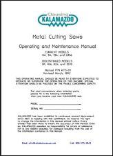 Kalamazoo Saw Model U816 Operations And Maintenance Manual