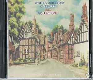 Genealogy Directory Of Cheshire 1860 Volume One 2 Cds Ebay