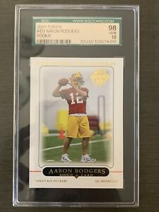 2005-Topps-Aaron-Rodgers-Rookie-RC-431-SGC-10-GEM-Green-Bay-Packers-Not-PSA