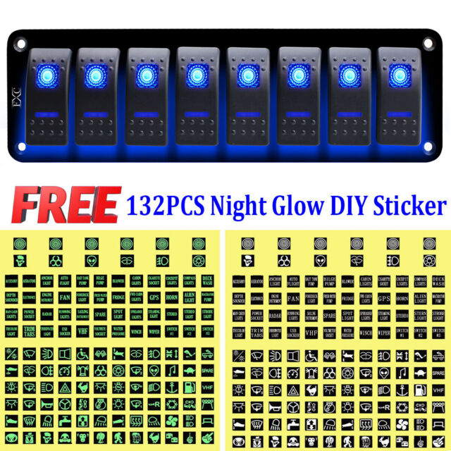au post, 8 gang inline fuse box waterproof red led rocker switch ...  ebay