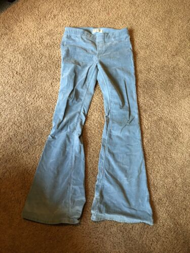 Free people Worn Once Light Blue Corduroy Bell Bot