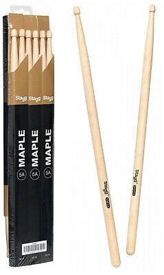 10 Paar XDrum 5A Ahorn Drum Sticks Classic Trommel Stöcke Schlagzeug Sticks Wood
