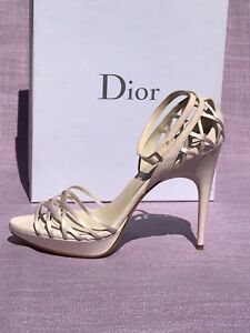 4da22ab9c7d Christian Dior Pink Satin Suede Strappy Sandals 38.5 Wedding Shoes ...