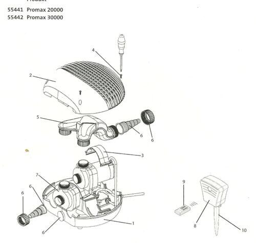 Oase Empfänger Promax 20000 Ersatzteil 34923 Oase Original Ersatzteil 34923