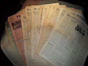 BRIDGETON-HIGH-SCHOOL-ECHO-NEWSPAPERS-BRIDGETON-NJ-WWII-ERA-1942-1945-ISSUES
