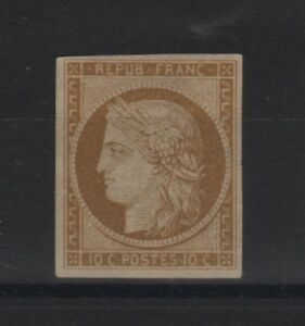 FRANCE-STAMP-TIMBRE-N-1-034-CERES-10c-BISTRE-JAUNE-1850-034-NEUF-x-TB-A-VOIR-T441