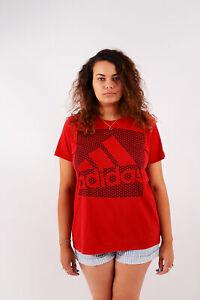 Vintage-Adidas-T-Shirt-Rot-L