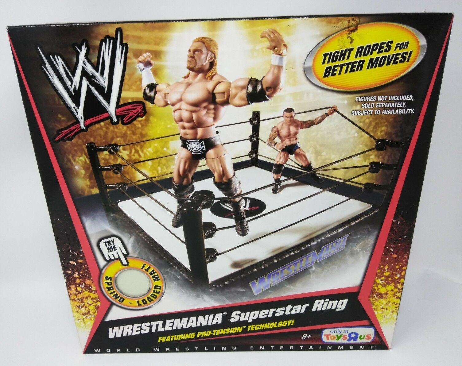 WWE 2010 Mattel WRESTLEMANIA SUPERSTAR WRESTLING RING TRU EXCLUSIVE Basic Elite