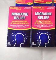 Magnilife Migraine Relief Tablets ( 2 Pack Bundle= 180 Tablets)