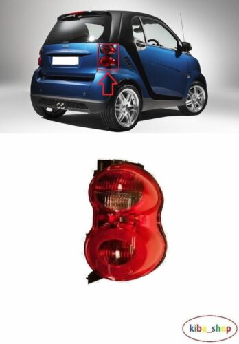 SMART FORTWO 2007-2014 REAR TAIL LIGHT LAMPS LAMP RIGHT O//S DRIVER