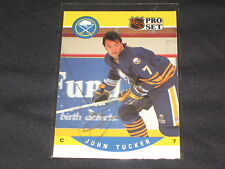 JOHN TUCKER SABRES 1990 PRO SET #420 HAND SIGNED AUTOGRAPHED NHL HOCKEY CARD
