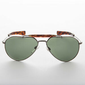 Gunmetal-Aviator-Vintage-Sunglass-with-Glass-Lens-Bayonet-Temples-Diamond