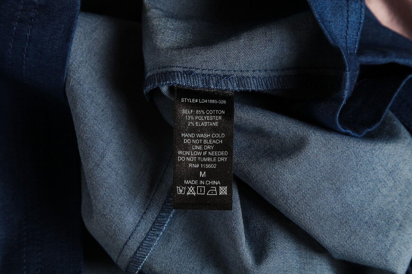 LUSH Mini Dress Medium Blue Apron Cut Out Back Zi… - image 5