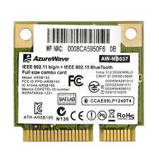 Asus U46SV Notebook Azurewave NB037 WLAN Drivers Update