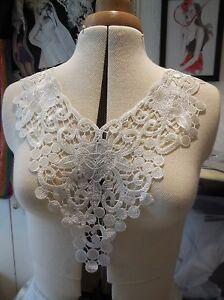Collar de tul negro encaje y apliques Negro Encaje Floral Cuello De Tul Motif 36x55.5cm