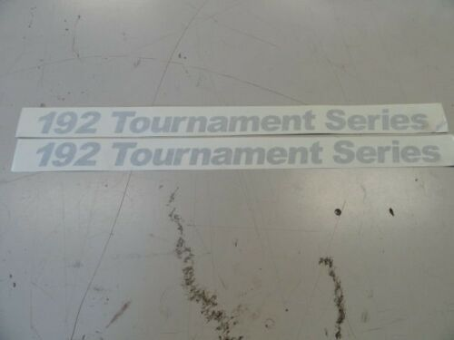 """SILVER 23 7//8/"""" X 1 1//2/"""" BOAT 2 CRESTLINER 192 TOURNAMENT SERIES DECAL PAIR"""