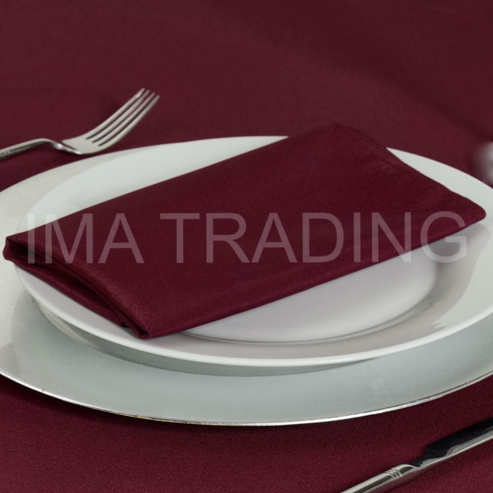 BURGUNDY ROUND TABLECLOTH 178 cm, 70 Inch, 220GSM SPUN POLYESTER TABLE CLOTH