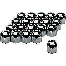 17mm Chrome Stainless Steel Wheel Nut Covers fits VOLKSWAGEN vw POLO
