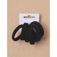 12 hair Elastics Black School Gym Snag free bobble Wholesale endless hair bands