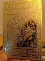 Yugioh Dark Magician Girl Custom Metal Card Limited Collection Golden Card