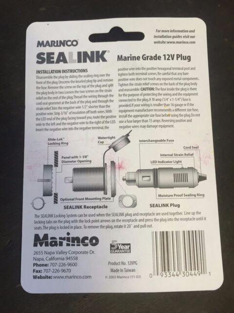 Marinco 12VPG Sealink Reg Deluxe 12v Plug