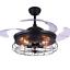 42-034-Industrial-Semi-Flush-Chandeliers-Retractable-Ceiling-Fans-Pendant-Lamp thumbnail 1