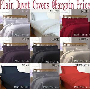 Plain-teints-Housse-de-couette-couette-set-avec-taies-d-039-oreiller-most-wanted-couleur