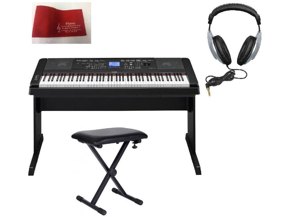 consegna veloce YAMAHA DGX660 Pianoforte digitale con stand stand stand + panca + cuffie + copritastiera ...  il miglior servizio post-vendita