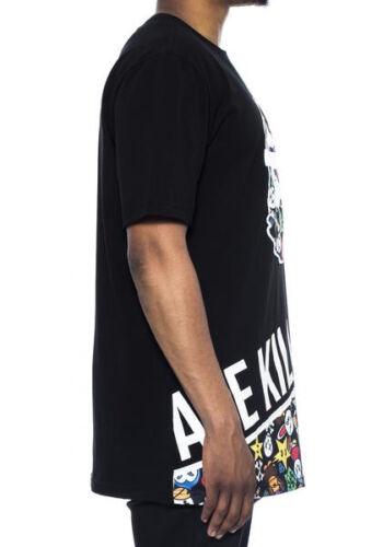 Men/'s Hudson Outerwear Ape Kill Ape Shirt Black Ape Eyes Cartoon S//S Tee Shirts
