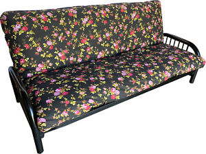 Polycotton Queen Size Futon Mattress Covers Bed Protectors Red Rose Black 106261916538 Ebay