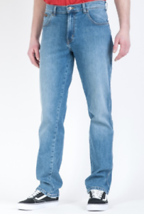 Mens Ex Wrangler Texas Stretch Straight Fit Jeans 'Clift Blue' (SECONDS) WA166