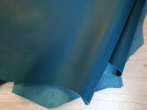 Dark Turquoise Blue Lamb Leather Nappa Skins Hides Fashion Craft Trimming 9 sqft