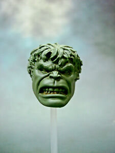 ML303-Hulk-Face-Off-clenched-teeth-Custom-Cast-head-use-with-6-034-Marvel-Legends