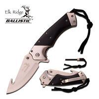Elk Ridge Spring Assisted Open Gut Hook Folding Hunting Camping Pocket Knife