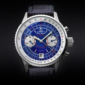 Blue-Angels-Fliegerchronograph-Chronograph-Uhr-Fliegeruhr-POLJOT-3133-Russland