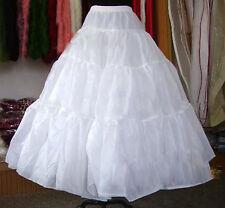 New Long Petticoat Crinoline Underskirt Hoop Slip Ball Gown Bridal Wedding Dress