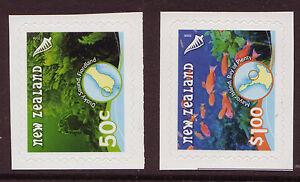 Nouvelle-Zelande-2008-SOUS-MARIN-recifs-LIVRET-Paire-Non-montes-excellent-etat